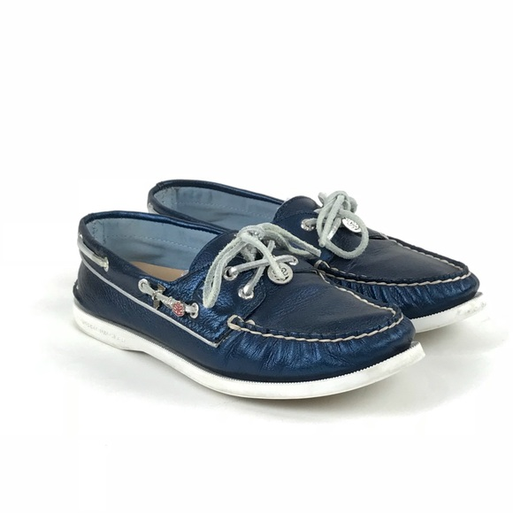 Sperry Top Sider Womens Blue Deck Shoes